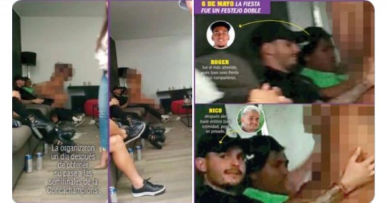 Futbolistas del América son grabados en fiesta teniendo sexo con escorts antes de ser eliminados por Pachuca
