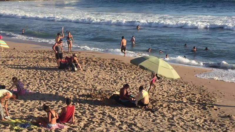 7 mil bañistas en playas de Mazatlán durante fin de semana