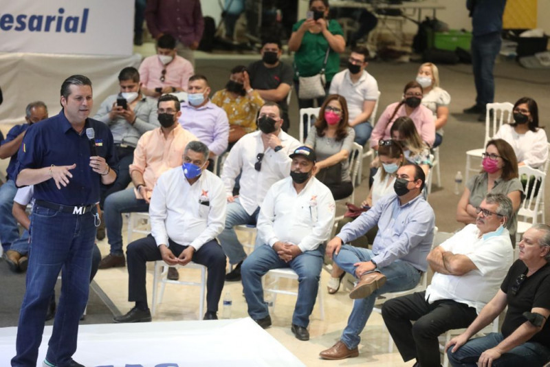 Harán empresarios efecto tsunami de votos para Mario Zamora