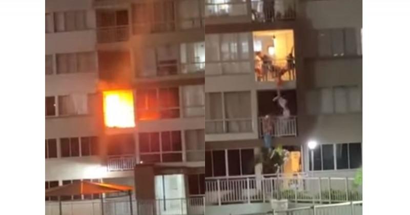Camilo apuñaló a su madre y luego le incendió el apartamento (video)