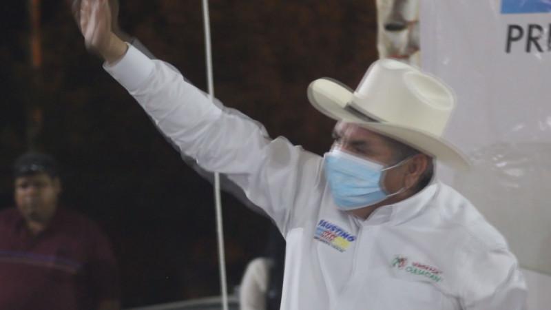 Faustino Hernández listo para su cierre de campaña este sábado