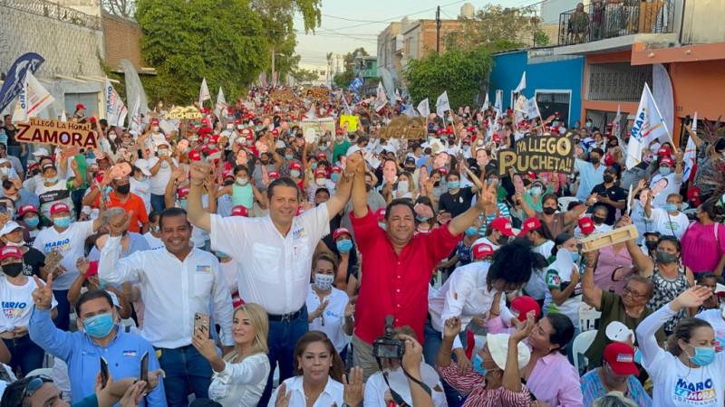 Mazatlán da la muestra de que el triunfo será para Mario Zamora