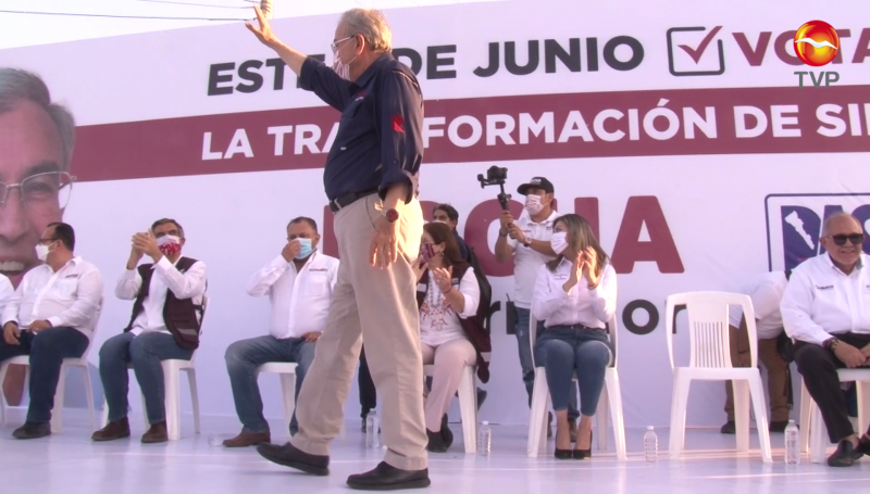 Rocha Moya llama a votar por la fórmula completa de Morena