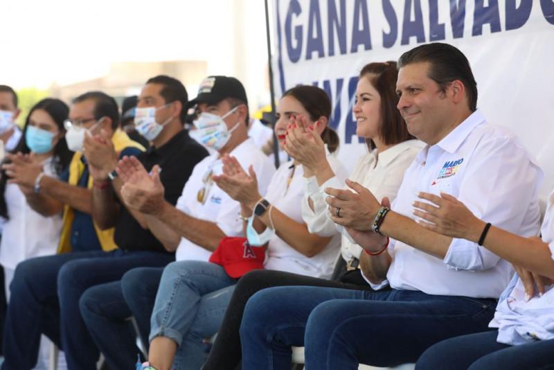 El 6 de junio será un gran día y vamos a ganar, afirma Mario Zamora desde Guamúchil