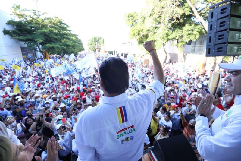 Cierra campaña Mario Zamora en Los Mochis