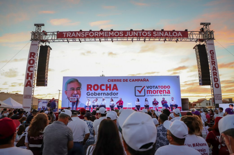 Durante el cierre de campaña en Los Mochis, reiteró el compromiso prioritario de su Gobierno: el combate a la corrupción.