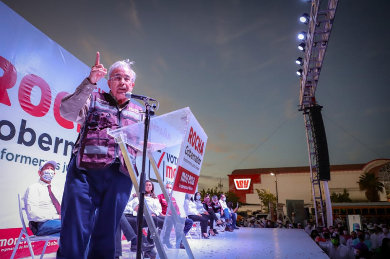 Cierre multitudinario de Rocha en Ahome presagia votos del triunfo el 6 de junio