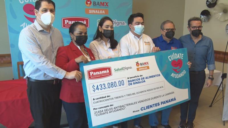Entregan apoyo a Banco de Alimentos de Sinaloa