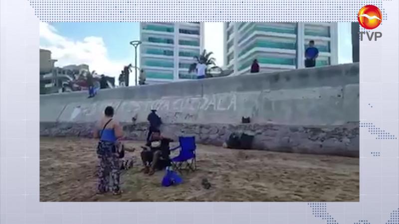 Detienen a padre e hija por supuesta 'pinta' en el Malecón