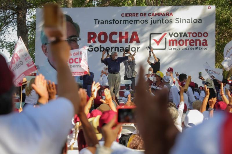 Salvador Alvarado, Mocorito y Angostura serán tierra de Morena: Rocha