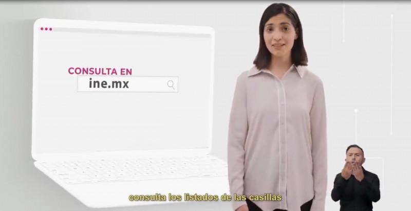 Ubique la casilla donde le tocará votar en la página del ine.mx