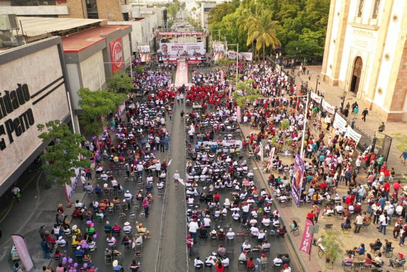 La campaña de Rubén Rocha Moya en números