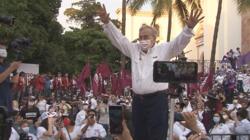 Cierra campaña Rocha Moya en el centro de Culiacán