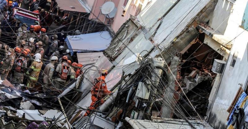 Tragedia en Río de Janeiro: se desploma edificio de cuatro pisos