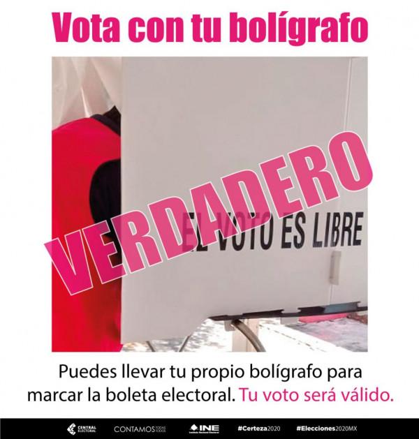 No se le olvide su cubrebocas este día de la jornada electoral