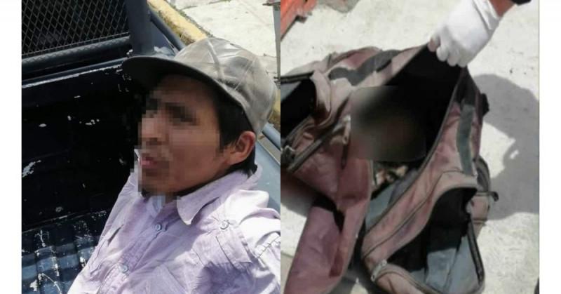 Detienen a Víctor con una cabeza humana en su mochila: presuntamente lo mató en una borrachera
