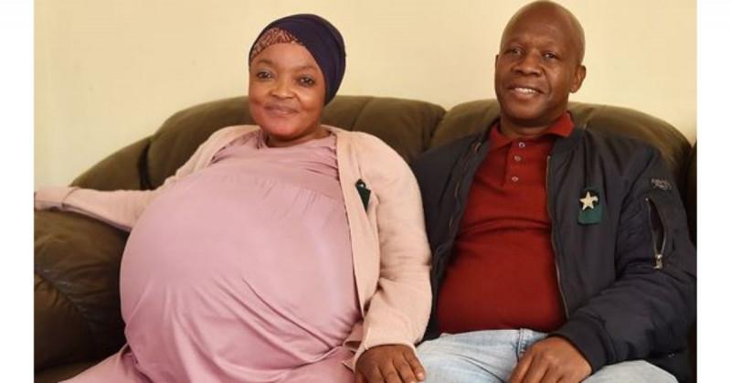 Mujer sudafricana rompe récord al dar luz a 10 bebés
