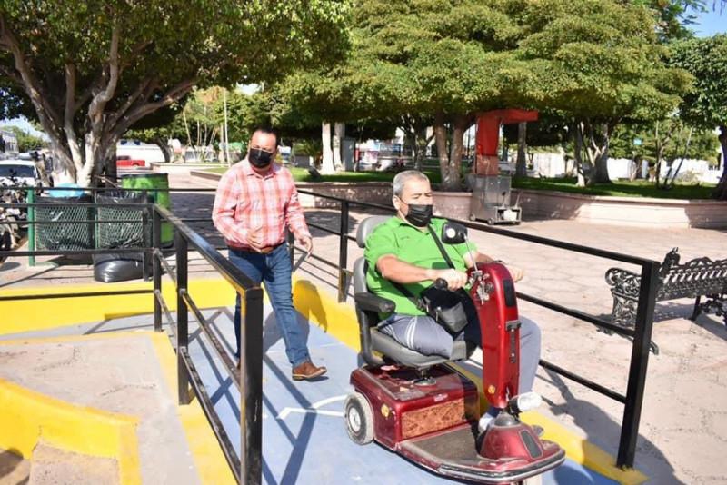 En Elota construyen rampas para personas con discapacidad