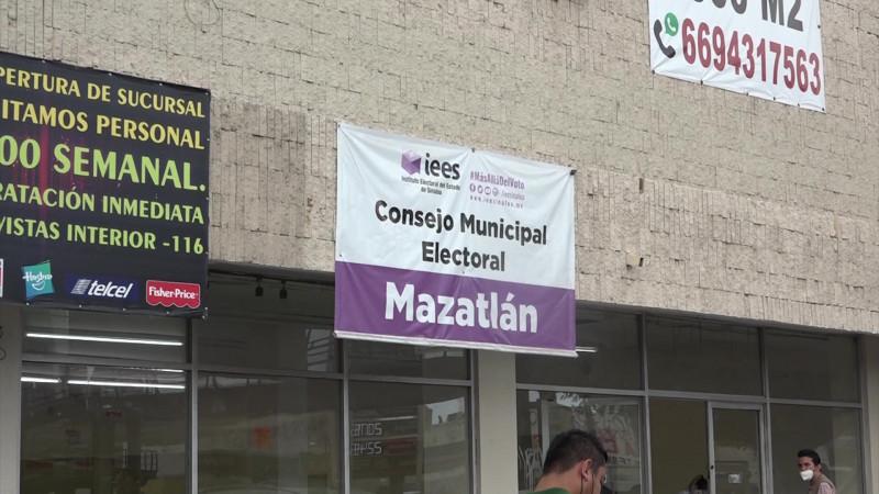 Se retrasa el cómputo de votos en Mazatlán