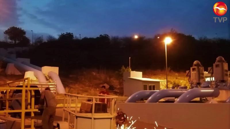 Dan mantenimiento emergente a Los Horcones