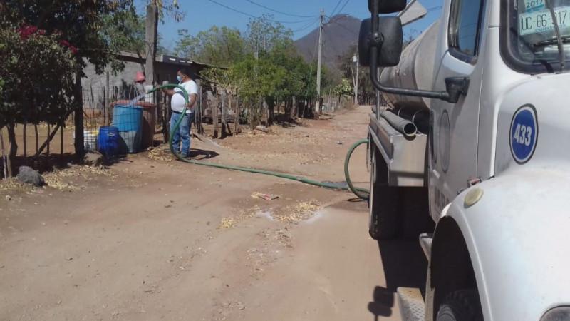 Comunidades afectadas por la sequia en Culiacán son atendidas