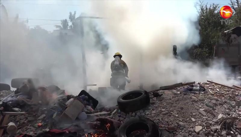 Bomberos Voluntarios atiende hasta 150 reportes de incendios en lotes en lotes baldíos