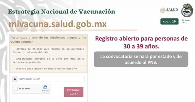 Personas de 30 años o más ya pueden registrarse para recibir la vacuna de Covid-19