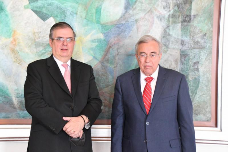 Se reune  Rubén Rocha con Marcelo Ebrard