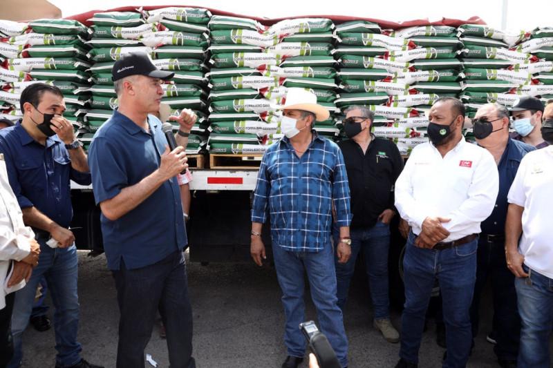 Entregan 53 mil bolsas de semillas de sorgo a temporaleros