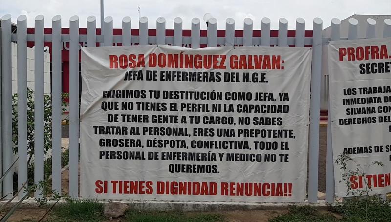 Paro de labores en Hospital de Escuinapa, exigen destitución de personal administrativo