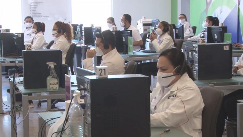 Continua Call Center atendiendo a pacientes covid
