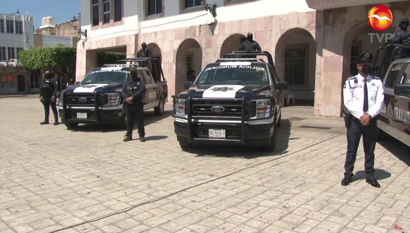 Dotan de 10 nuevas patrullas a la Secretaría de Seguridad Pública de Mazatlán