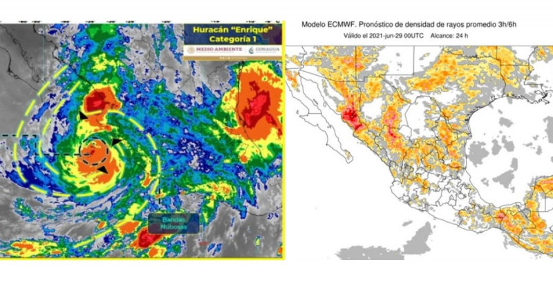 Huracán Enrique se encuentra cerca de las costas de Jalisco, Nayarit y Sinaloa
