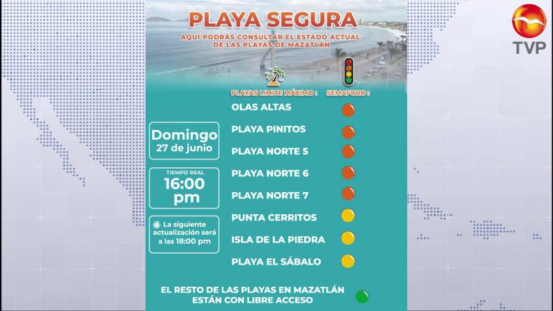 De vuelta, los semáforos de playas y la vida nocturna en Mazatlán
