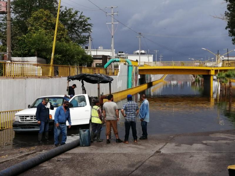 Primera lluvia copiosa provoca daños menores en Cajeme