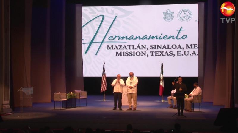 Se hermana Mazatlán con Mission, Texas