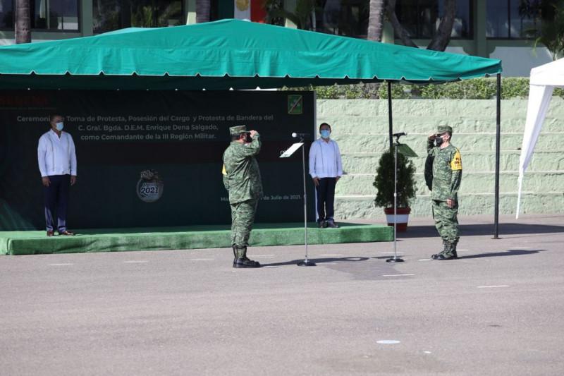 Enrique Dena Salgado es el nuevo  comandante de la III Región Militar