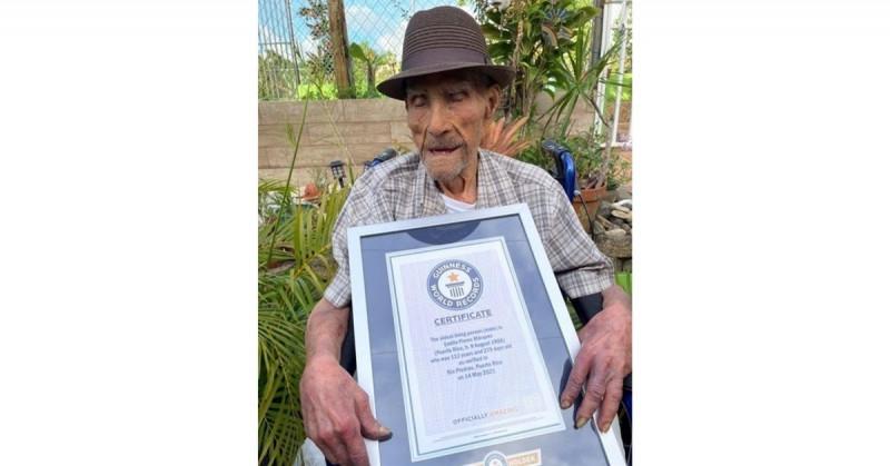 Emilio Flores tiene el Récord Mundial Guinness como el hombre más longevo del mundo