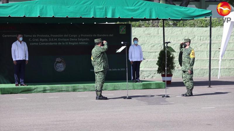 Hay cambio de mandos en la Tercera Región Militar