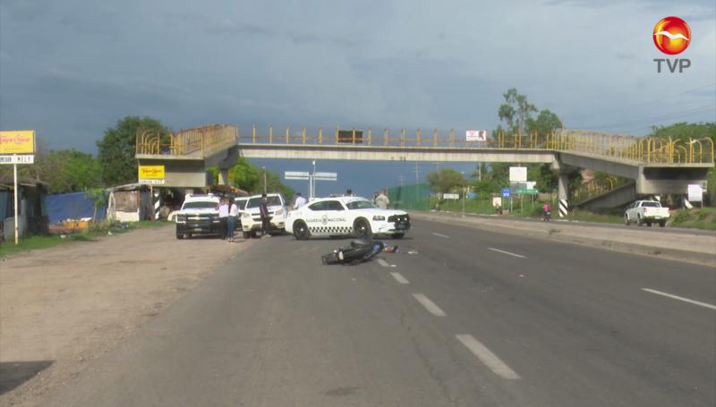 Muere motociclista a la altura de la Urraca