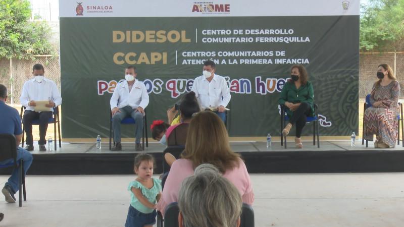 Inauguran autoridades de Ahome el CCAPI en la Ferrusquilla