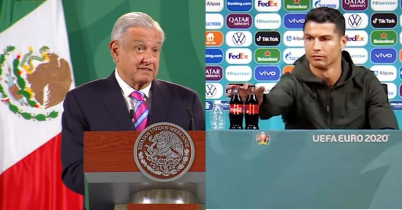 López Obrador aplaude gesto de Cristiano Ronaldo contra Coca-Cola