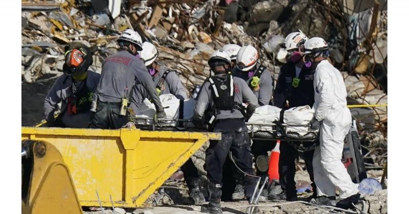Van 60 muertos en derrumbe de edificio de Miami
