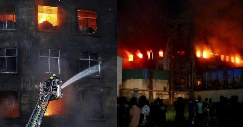 52 muertos y 30 heridos en incendio en una fábrica de Bangladesh