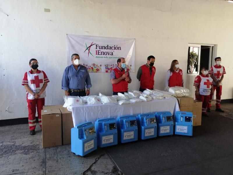 Cruz Roja Los Mochis recibe equipo médico para covid