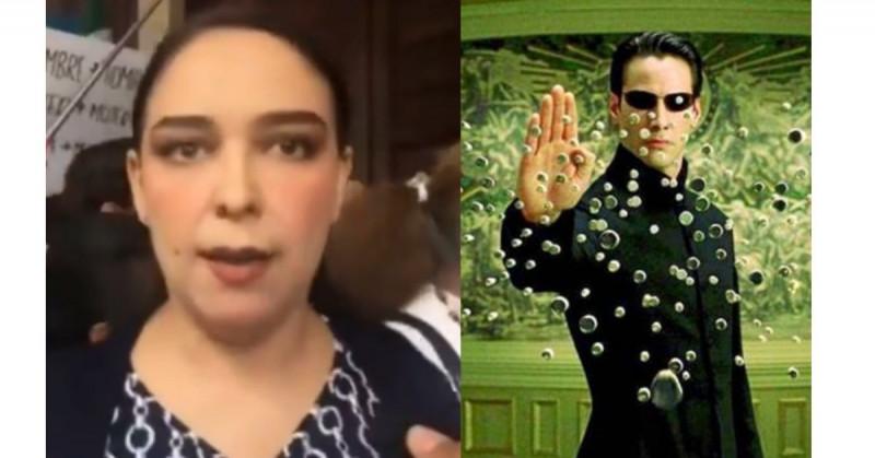 """Mujer pro-vida de Durango se convierte en """"Lady Matrix"""" (video)"""