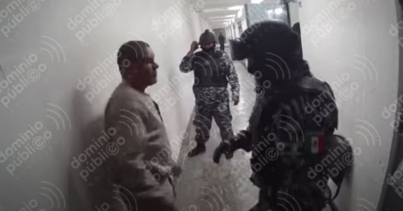 """Difunden video de """"El Chapo"""" haciendo sentadillas sin ropa en la cárcel"""