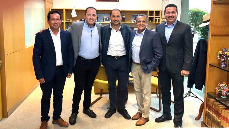 Panistas sinaloenses se reunieron con Marko Cortés