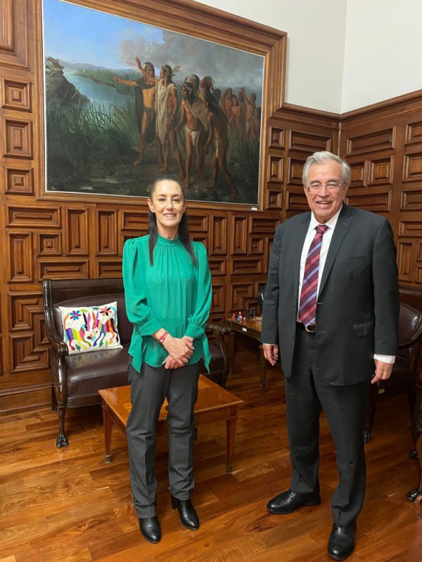 Rubén Rocha Moya, se reunió con Claudia Sheinbaum