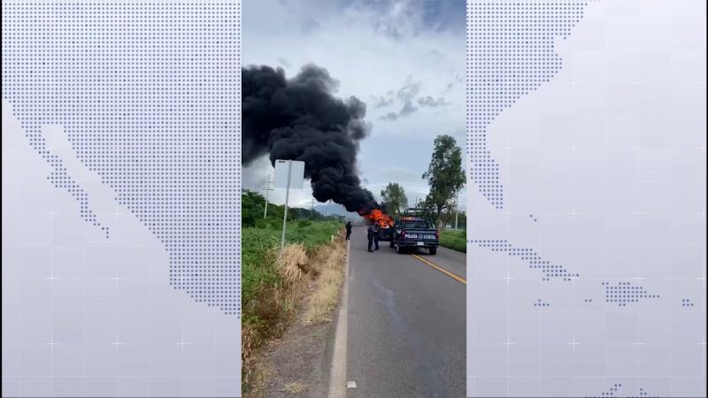 Camión pasajero se incendia cerca de la cabecera de Rosario
